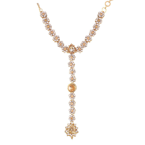 kundan and Pearl Bracelet with Pearl Chain Ring handchain Hath phool for Women(PIJ006LW)