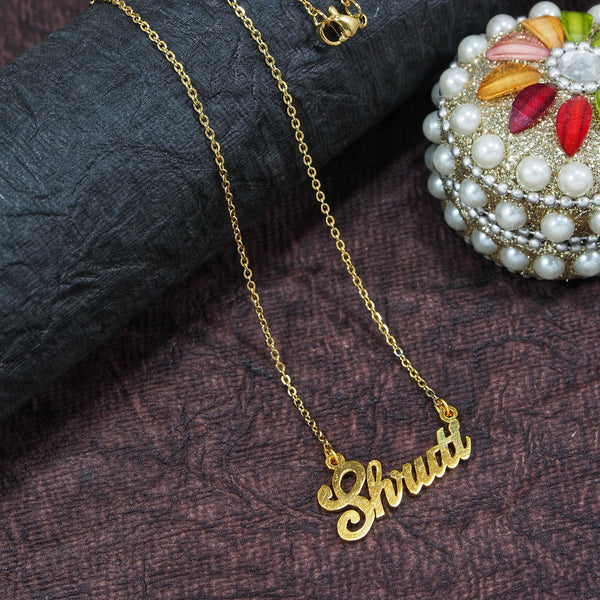 Gold Plated Personalized Name Necklace