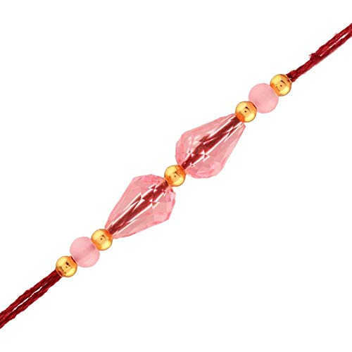 Gold Plated Designer Beads Rakhi for Men-Boys