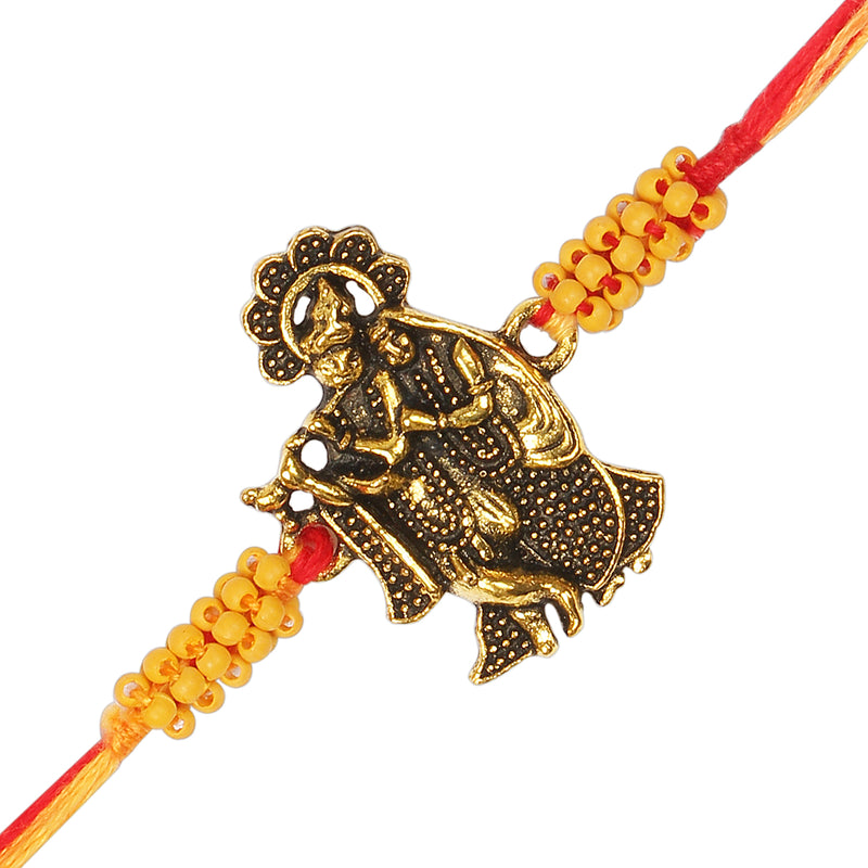 Gold Plated Designer Lord Krishna Rakhi Combo Of 3 for Bhai/Brother (R950-3)(Pack Of 3)