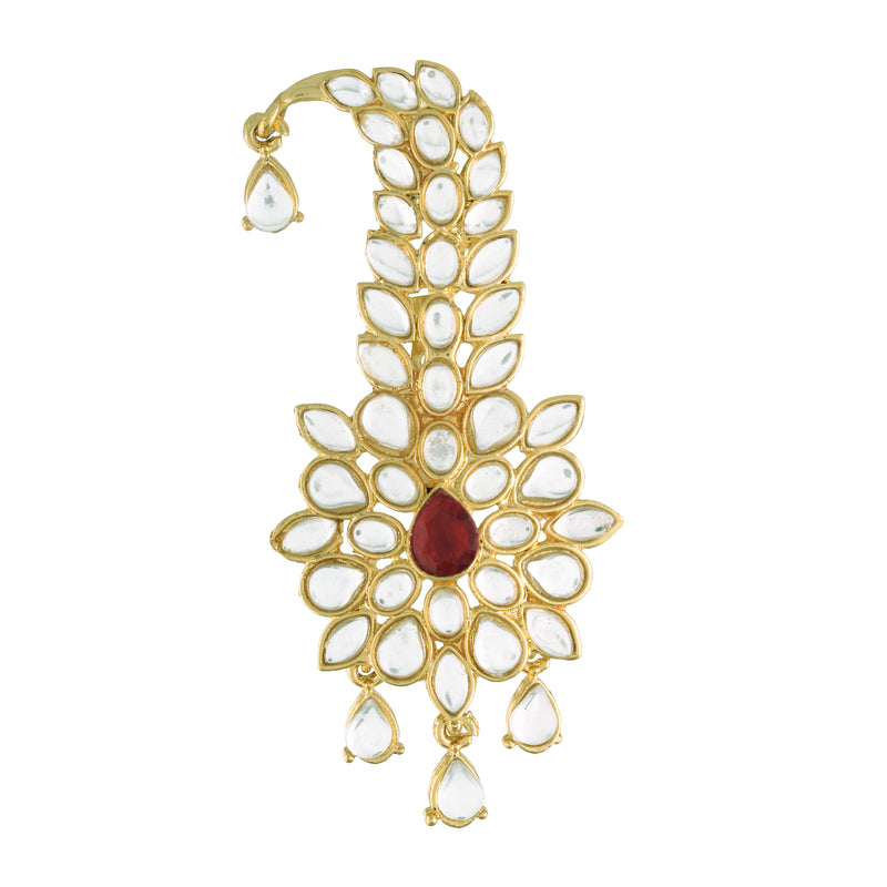 Gold Plated Traditional Handcrafted Faux Kundan Studded with Pearls Safa Kalangi for Mens (SM53M)