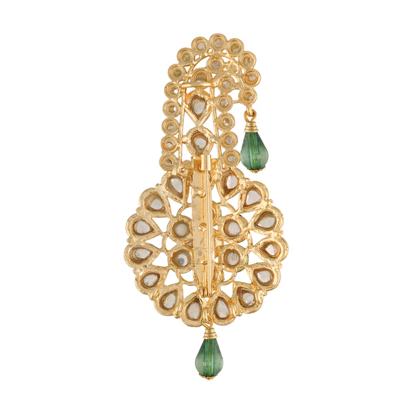 Gold Plated Traditional Handcrafted Faux Kundan Studded with Pearls Safa Kalangi for Mens (SM54G)