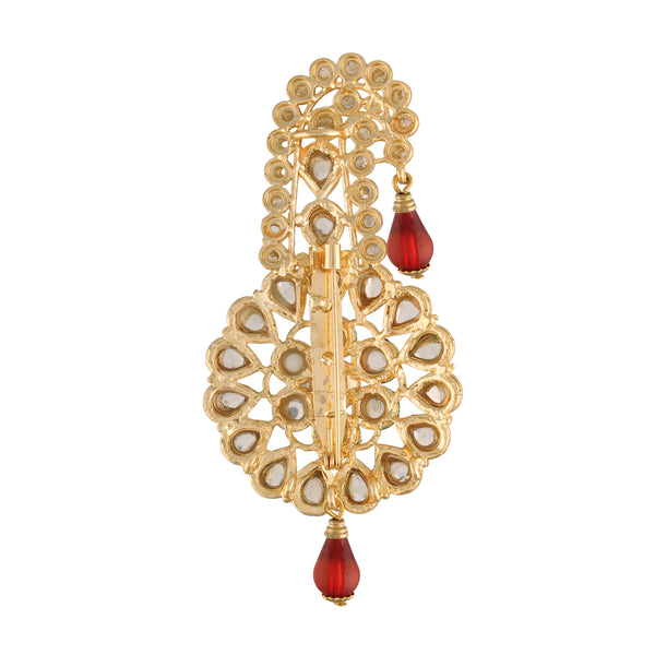 Gold Plated Traditional Handcrafted Faux Kundan Studded with Pearls Safa Kalangi for Mens (SM54M)