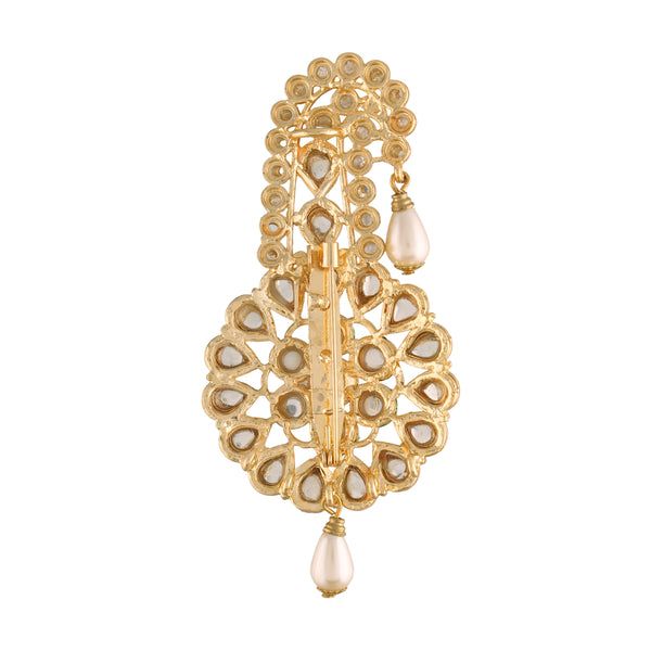 Gold Plated Traditional Handcrafted Faux Kundan Studded with Pearls Safa Kalangi for Mens (SM54W)