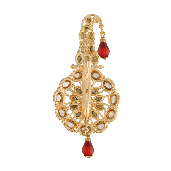 Gold Plated Traditional Handcrafted Faux Kundan Studded with Pearls Safa Kalangi for Mens (SM55M)