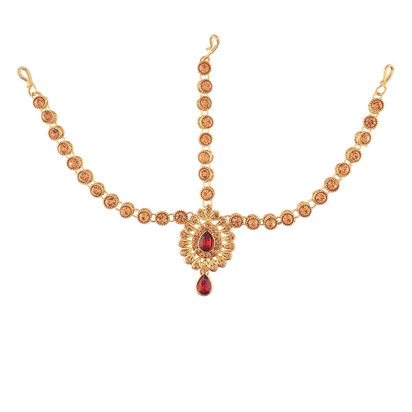 Gold Plated Traditional Matha Patti/Maang Tikka for Women (T2009M)