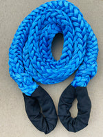 "2-1/8"" X 35' Amsteel-Blue Recovery Rope w/HD Chafe Guard on 8"" Eyes 457,000 LB Average Strength"