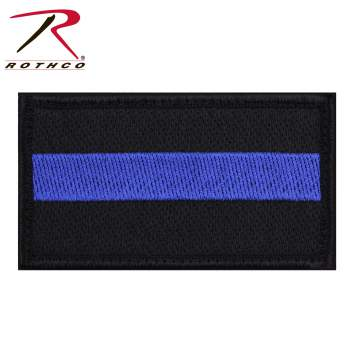 Rothco Thin Blue Line Patch - Hook Back