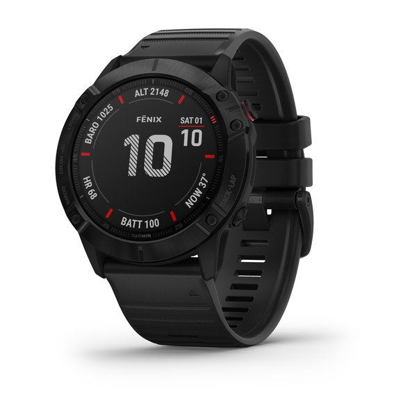 Garmin fēnix® 6X Pro, Black with Black Band