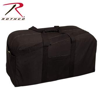 Rothco 8134 Black 8143 Navy Canvas Jumbo Cargo Bag