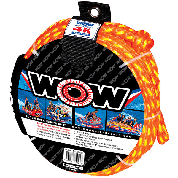 WOW Watersports 4K- 60' Tow Rope