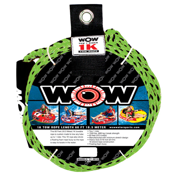 WOW Watersports 1K - 60' Tow Rope