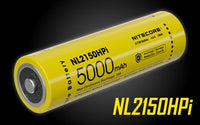 NITECORE NL2150HPi >15A 5000mAh 21700 Rechargeable Battery