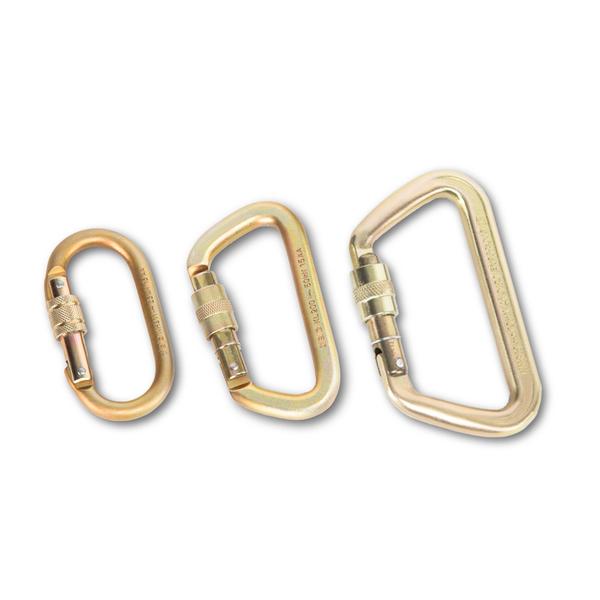 STEEL LOCKING CARABINERS