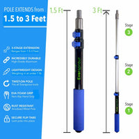 EVERSPROUT 1.5-3' Aluminum Telescopic Extension Pole