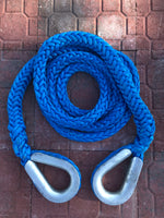 "1-5/16"" X 20'L Amsteel-Blue Recovery Rope w/HD Galvanized Thimbles 185,000 LB Average Strength"