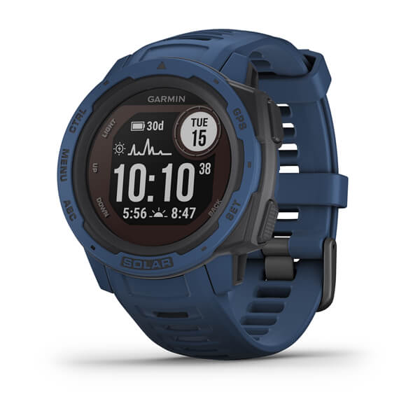 Garmin Instinct® Solar Tidal Blue GPS Watch