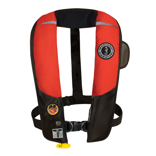 Mustang HIT Automatic Inflatable PFD w/Harness - Red/Black