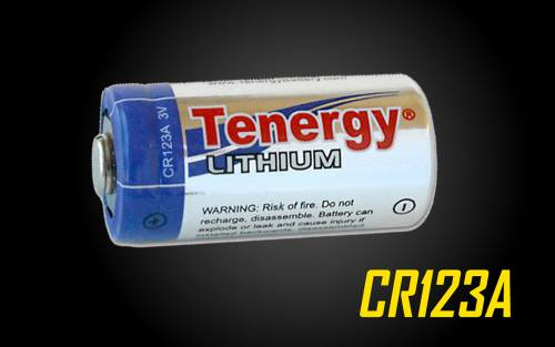 Tenergy 1300mAH CR123A Lithium Battery