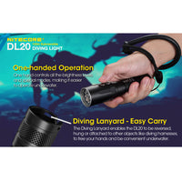 NITECORE DL20 1000 Lumen LED 100m Submersible Dive Light with Red Light