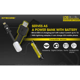 NITECORE LC10 Portable Multi-Function USB Charger for 18650 Batteries, Cell Phones with Backup Flashlight