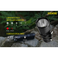 NITECORE MT10C 920 Lumen EDC Tactical Flashlight, with Red Light