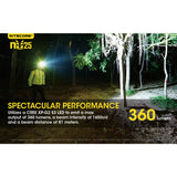 NITECORE NU25 Black 360 Lumen Triple Output White, Red, High CRI USB Rechargeable Headlamp