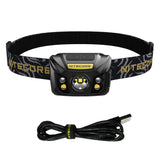 NITECORE NU32 Black 550 Lumen LED Rechargeable Headlamp with White and Red Beams