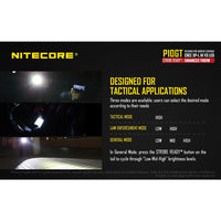 Nitecore P10GT Cree XP-L HI V3 312 Yard Compact LED Tactical Flashlight