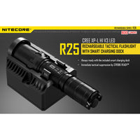 NiteCore R25 800 Lumen Rechargeable Tactical LED Flashlight w/Charging Dock