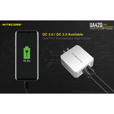 NITECORE UA42Q 2-Port Quick Charge USB 2.0 & 3.0 Adapter