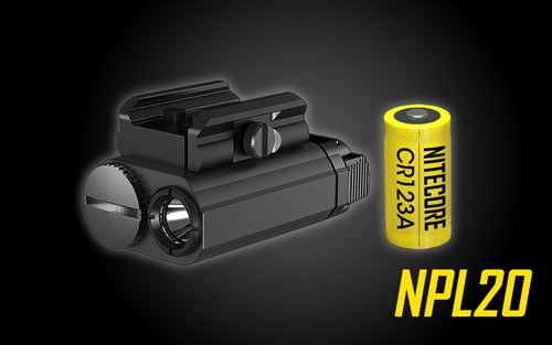 Nitecore NPL20 Compact Rail Mount FlashLight