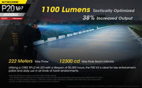 Nitecore P20 V2 1100 Lumen LED Flashlight, with Hard Holster
