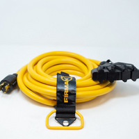 Firman 30-Amp (4-Prong) 25-Foot Convenience Cord w/ 4-20 Amp Outlets & Storage Strap Model 1125