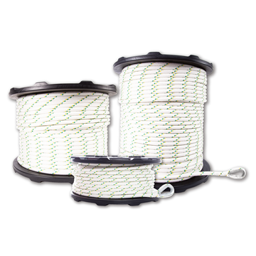 1/2'' DOUBLE-BRAIDED POLYESTER WINCH ROPES WITH SPLICES AND THIMBLES