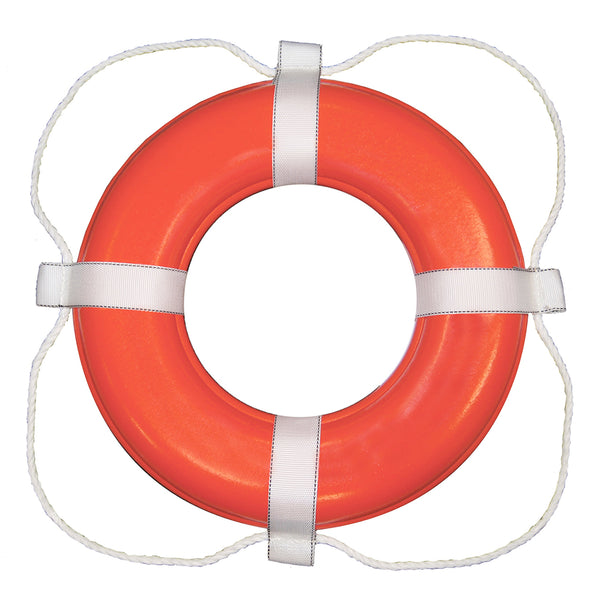 "TAYLOR MADE FOAM RING BUOY - 20"", 24"", and 30"" - ORANGE W/WHITE ROPE"