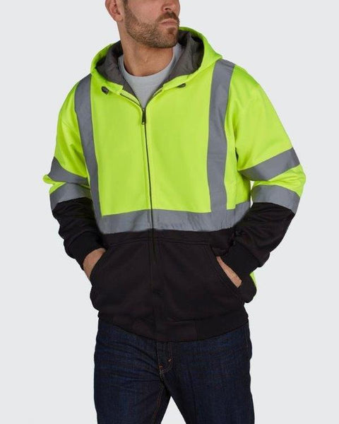 Utility Pro Hi-Vis Soft Shell Full Zip Hoodie with Teflon Fabric Protector UHV425