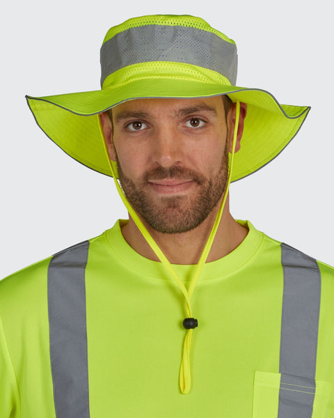 Utility Pro Hi Vis Bucket Hat with Perimeter Insect Guard UHV503