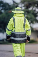 Utility Pro Hi-Vis Waterproof Rain Jacket with Teflon Fabric Protector UHV822