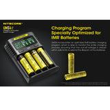 Nitecore UMS4 Four Slot USB Fast Charger for 18650 and 21700 Batteries