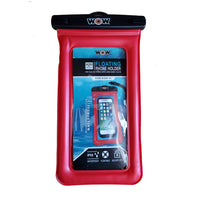 "WOW Watersports H2O Waterproof Smart Phone Holder - 5"" x 9"" - Red"