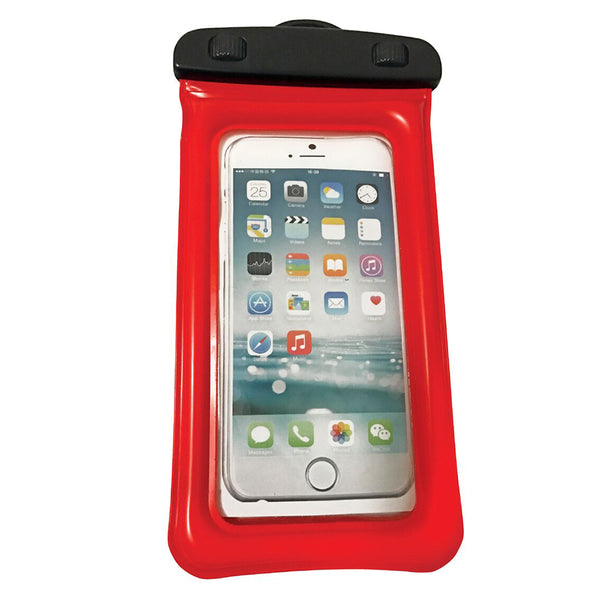 "WOW Watersports H2O Waterproof Phone Holder - Red 4"" x 8"""