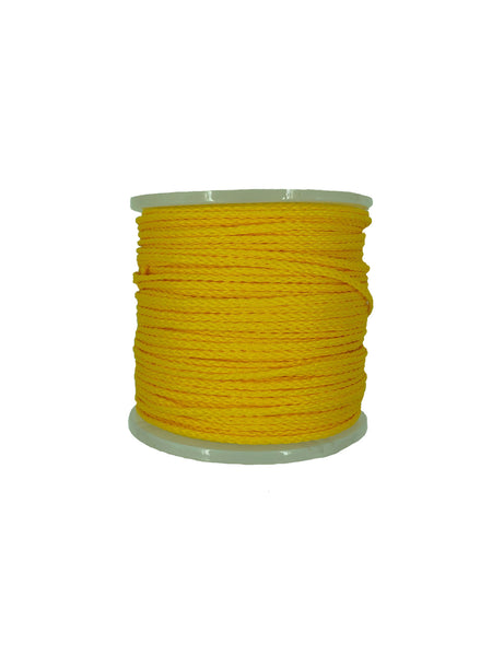 "1/4"" X 1000' Yellow Hollow Braid Polypropylene Rope"