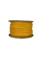 "3/8"" X 600' Yellow 3-Strand Twisted Polypropylene Rope"