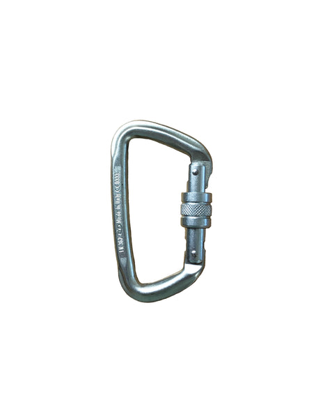 "Steel Modified ""D"" Screw Gate Carabiner (BINER5)"