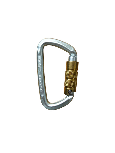 "Steel Modified ""D"" Autolock Carabiner (BINER6)"
