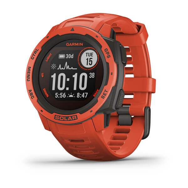 Garmin Instinct® Solar Flame Red GPS Watch