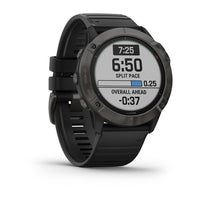 Garmin fēnix® 6X Pro Solar, Titanium Carbon Gray DLC with Black Band