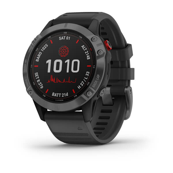 Garmin fēnix® 6 - Pro Solar Edition, Slate Gray with Black Band