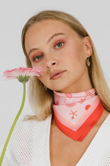 THE ISLAND SILK MINI SCARF - PINK